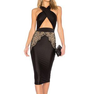 Michael Costello x REVOLVE Philip Midi in Black S